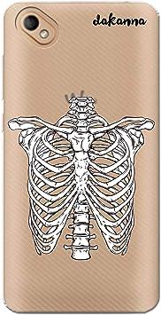 dakanna Funda Compatible con [Wiko Sunny 2 Plus] de Silicona Flexible, Dibujo Diseño [Esqueleto Huesos de Halloween], Color [Fondo Transparente] Carcasa Case Cover de Gel TPU para Smartphone: Amazon.es: Electrónica