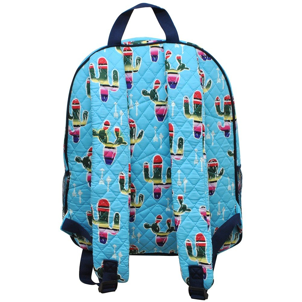 American Sarape Cactus Print NGIL Quilted Large School Backpack by NGIL (Image #3)