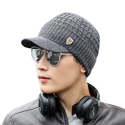 Saisiyiky gorros de lana hombre invierno sombreros hombre invierno de punto  de invierno gorro de esquí c5f63c2fec1