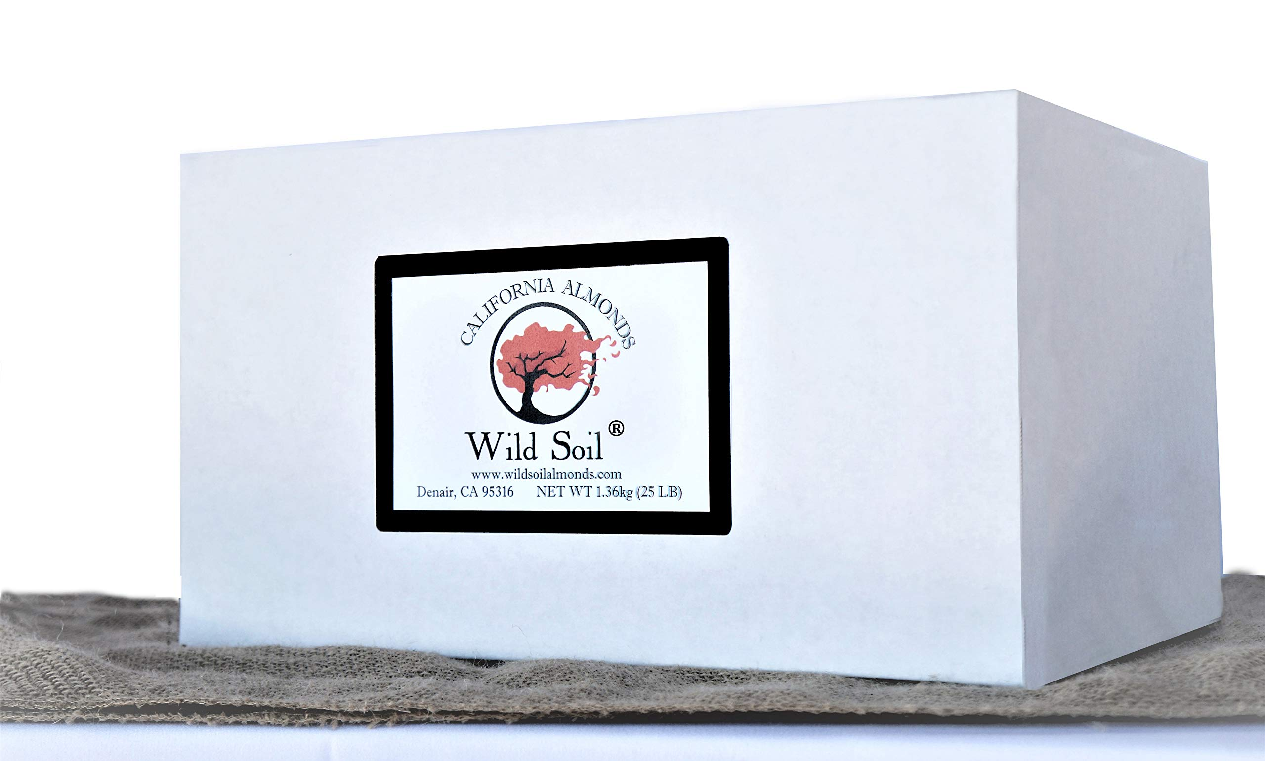 Wild Soil Almonds - Distinct and Superior to Organic, Steam Pasteurized, Probiotic, Raw 25LB Box