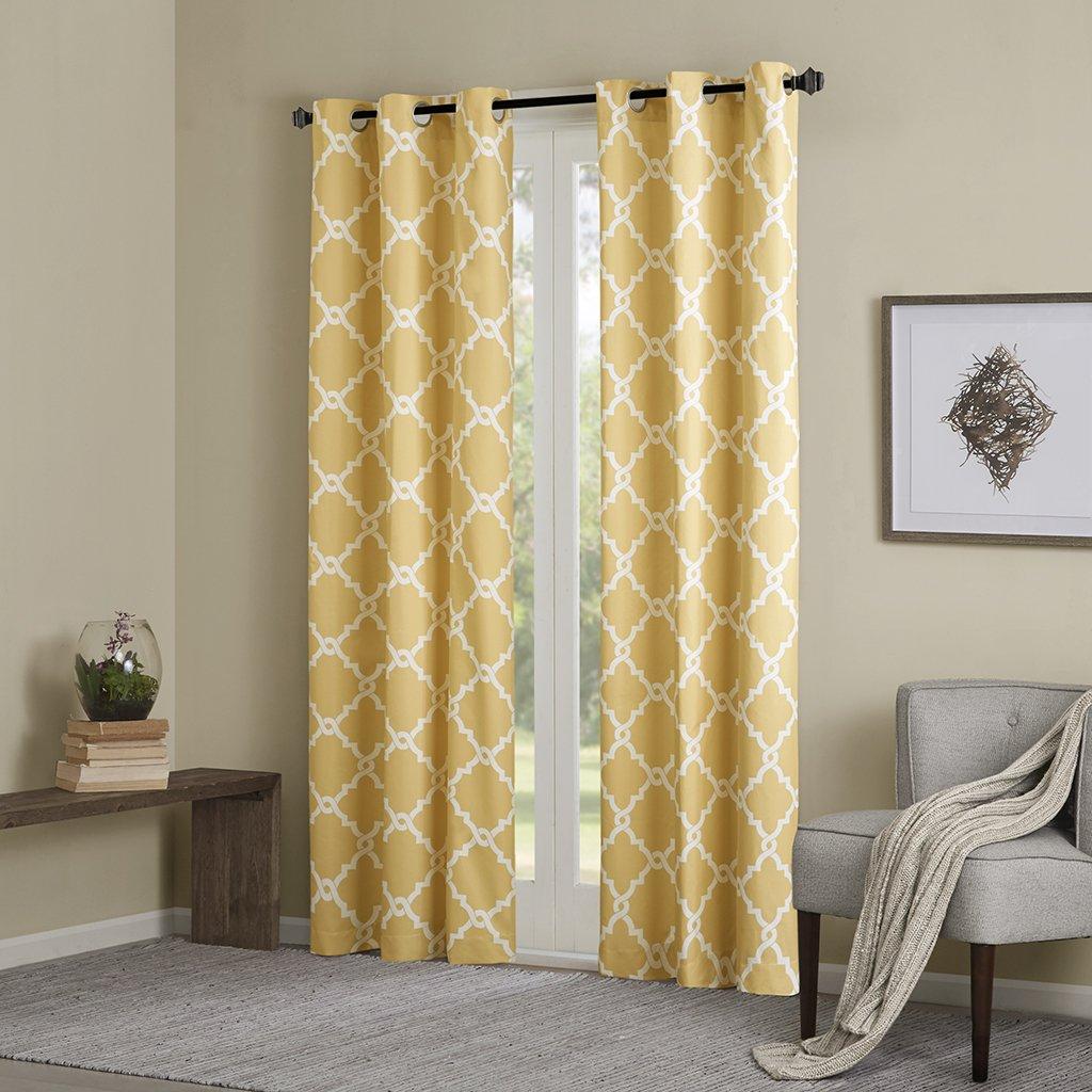 amazon com yellow curtains for living room modern contemporary rh amazon com