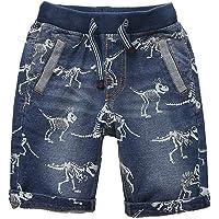 Abalaco Boys' Regular Jeans Short Stretch Denim Pull-on Sport Casual Pants 5-11 Years