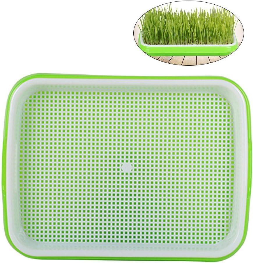 OUNONA - Bandeja para Quemador de Hierba de Trigo sin Suelo, plástico de Grado alimenticio, PP(Verde)