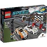 LEGO Speed Champions - 75912 - Jeu De Construction - La Ligne D'arrivée De La Porsche 911 Gt