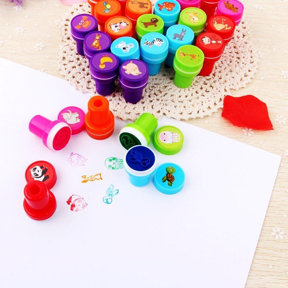 JZK 36 x Emoticon Emoji Stempel Kinder Spielzeugstempel Selbstf/ärbende Stempelset Briefmarken Mitgebsel f/ür Geburtstag Kinder Party Weihnachten