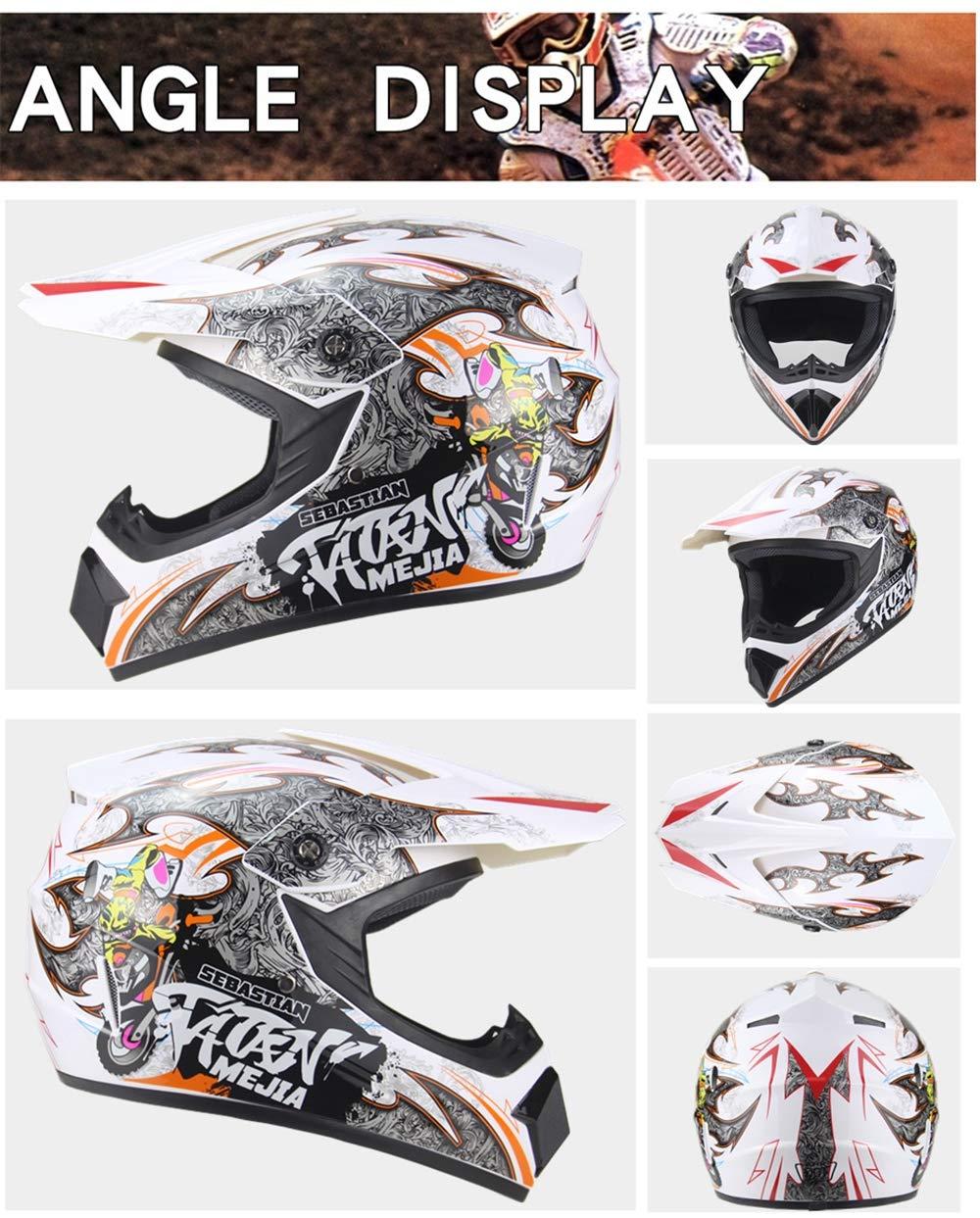 LUOJI Motocicleta Motocross para Adultos Off Road Helmet ATV ...