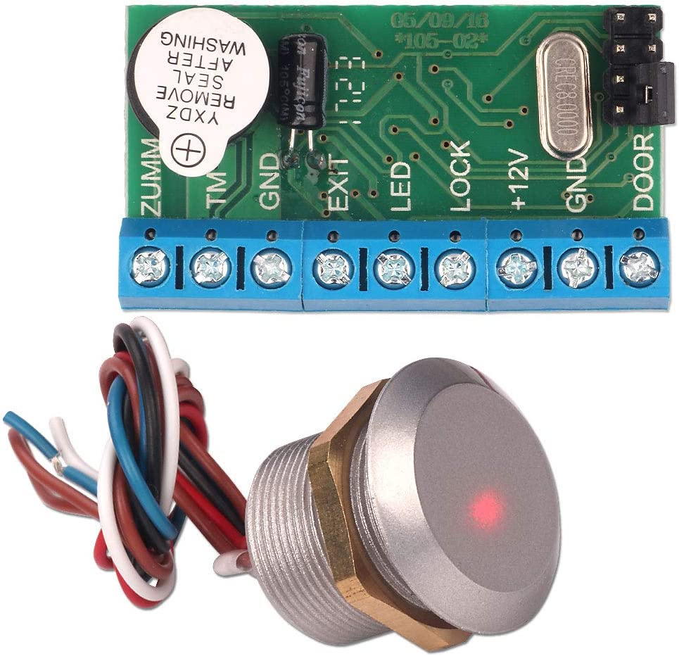 minilector con micro oculto RFID resistente al agua tarjeta de identificaci/ón 125 Khz Wiegand 26 Lector de control de acceso ZOTER