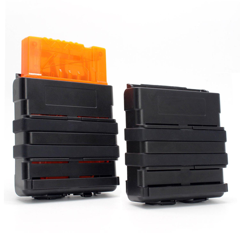 Hosim Bullet Belt Gun Bullet Darts Shoulder Strap Shoulder Strap For Elite Nerf Nstrike Blasters with 2 Pack Black Mag Pouch