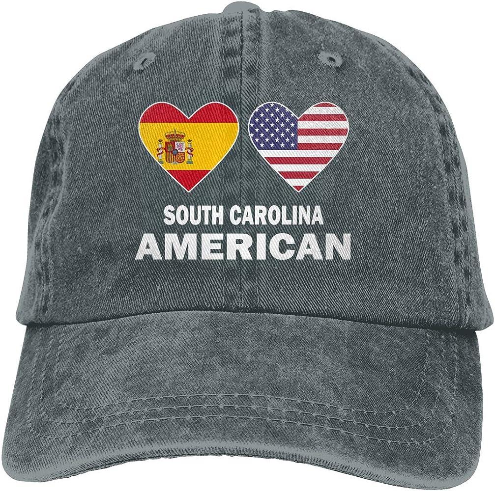 Gorra de béisbol Ajustable con Vaqueros teñidos con Hilos y Pantalones Vaqueros teñidos con Hilo de American Hearts de los Hombres de España: Amazon.es: Ropa y accesorios