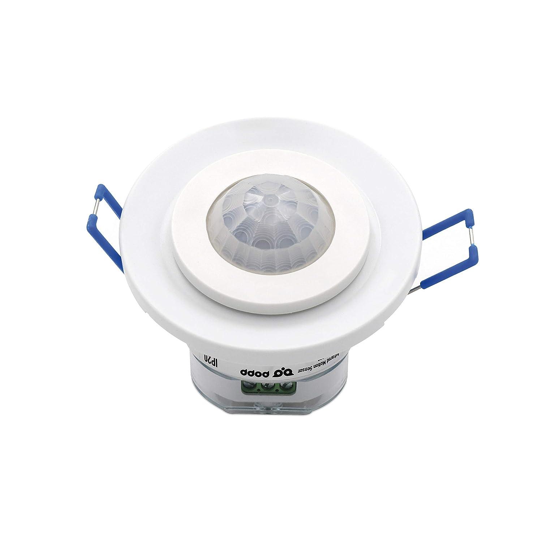 Popp Detector Movimiento por MICROONDAS Blanco