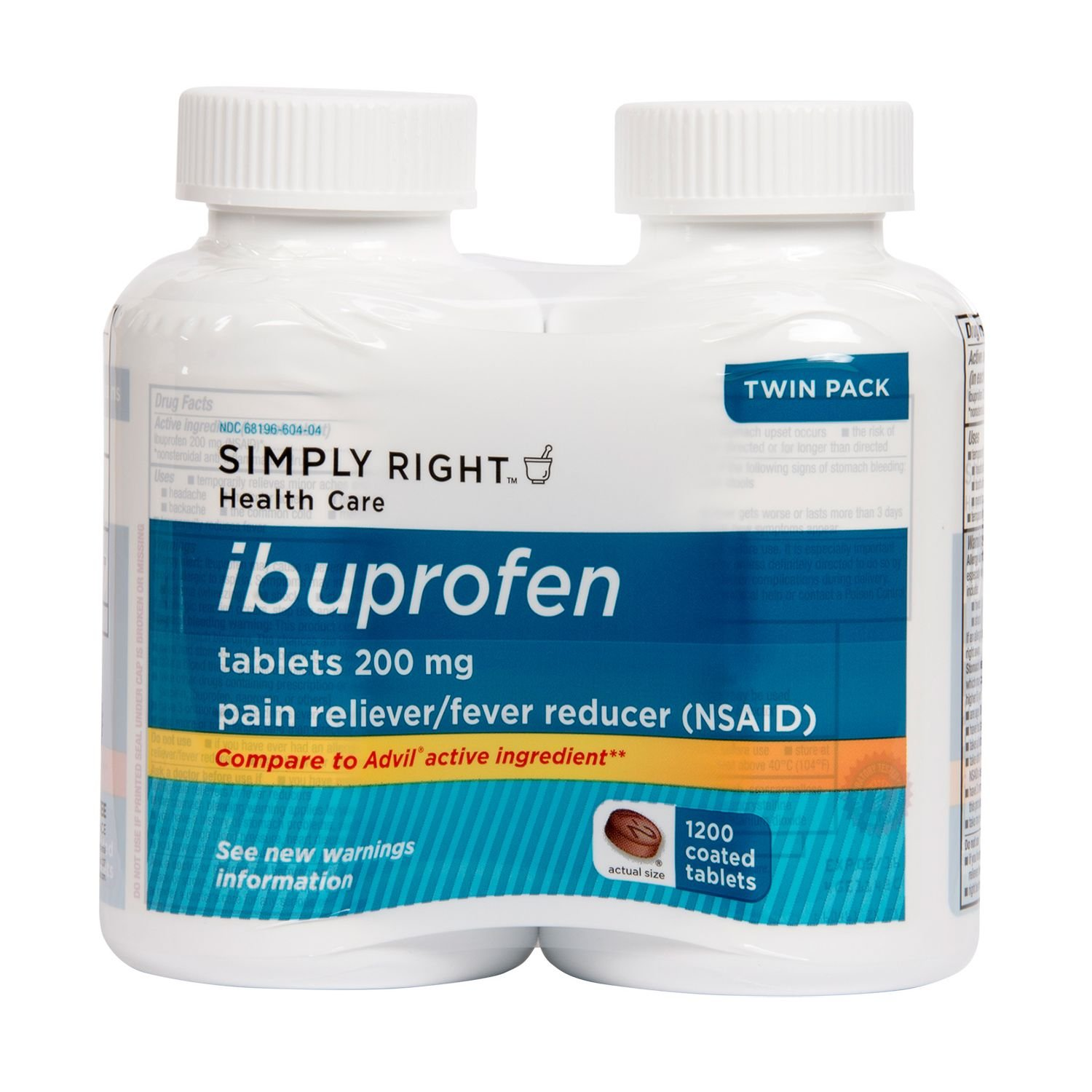 Member's Mark Ibuprofen Tablets, 200 mg (600 ct., 2 pk.) Total 1200 Tablets