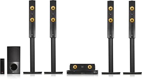 LG lha855 W 5.1 – Sistema de Cine en casa 3D con BLU-Ray (1200 W, Altavoces Traseros inalámbricos, WiFi, Smart TV, DLNA, Bluetooth, 1080p), Color Negro: Amazon.es: Electrónica