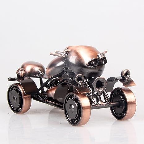 Powzz ornament Retro Hierro De Cuatro Ruedas Beach Car Kart Modelo Muebles para El Hogar Escritorio