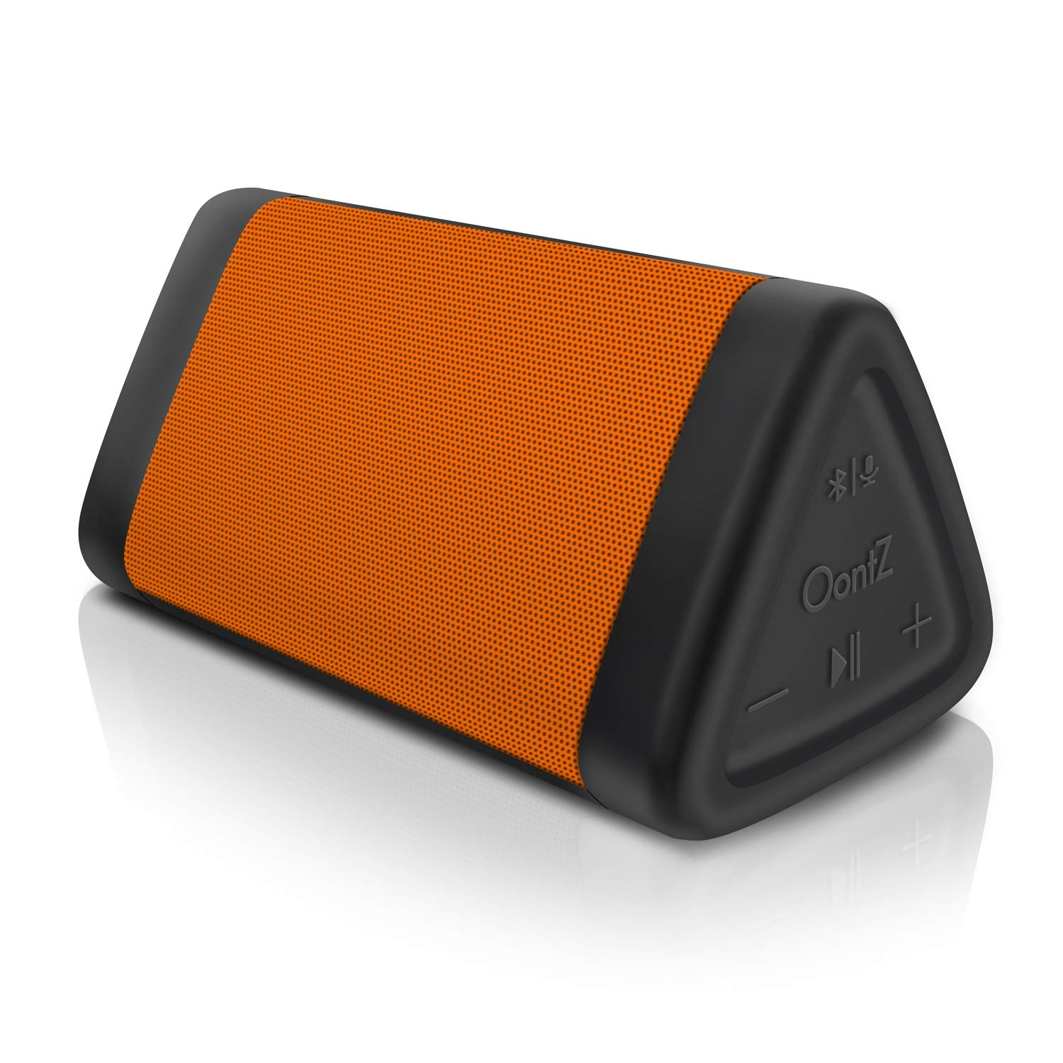 OontZ Angle 3 (3rd Gen) Portable Bluetooth Speaker, Louder Crystal Clear Stereo Sound, Rich Bass, 100 Ft Wireless Speaker Range, IPX5, Bluetooth Speakers by Cambridge SoundWorks (Orange) by Cambridge Soundworks (Image #1)