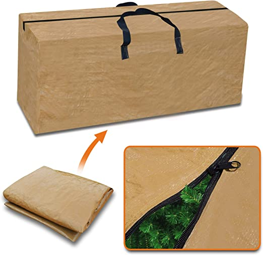 Heavy Duty Xmas Tree Storage Bag Container For Clean Up Holiday Green Up to 8ft