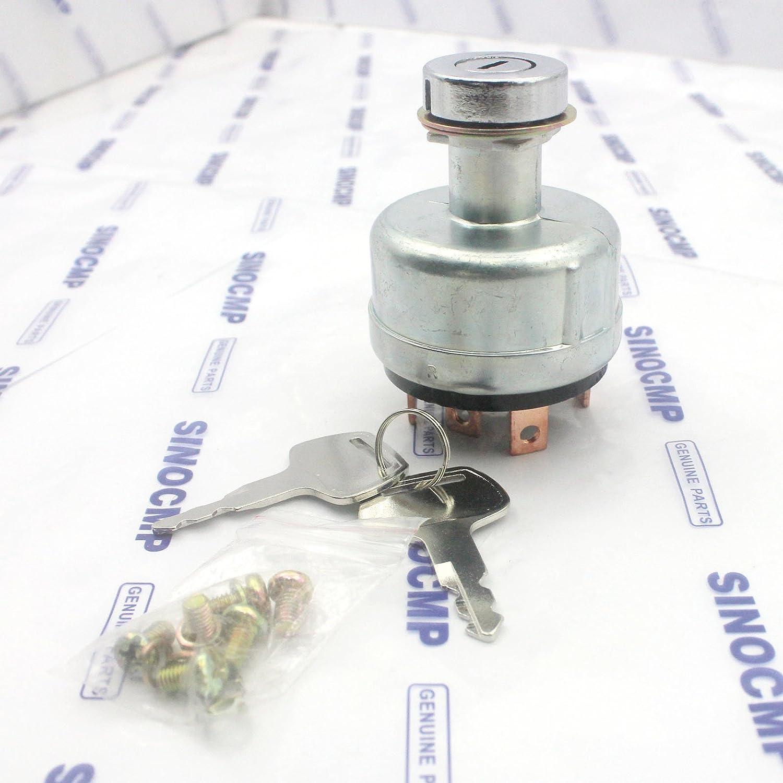 Sinocmp starter chiave di accensione interruttore 2/chiavi per Sumitomo SH200/Escavatore Parts 3/mesi di garanzia