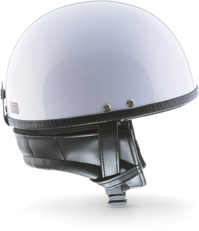 "63-64cm MOTOHelmets D22 /""Leather Brown/"" /· Brain-Cap /· Halbschale Jet-Helm Motorrad-Helm Bobber /· Fiberglas Schnellverschluss SlimShell Tasche XXL"