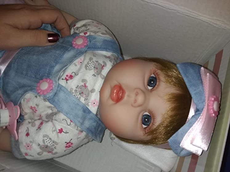 JOYMOR 22 Inch Reborn Baby Doll Birthday Gift Vivid Real Looking Dolls Full Silicone Vinyl Lifelike Realistic Child Growth Partner Washable Soft Body Lovely Simulation Fashion So much cuter in person!