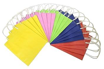 Folia Bringmann 21.809 Bolsas de Papel Grandes 18 x 8 x 21 cm Colores Surtidos Pack de 20