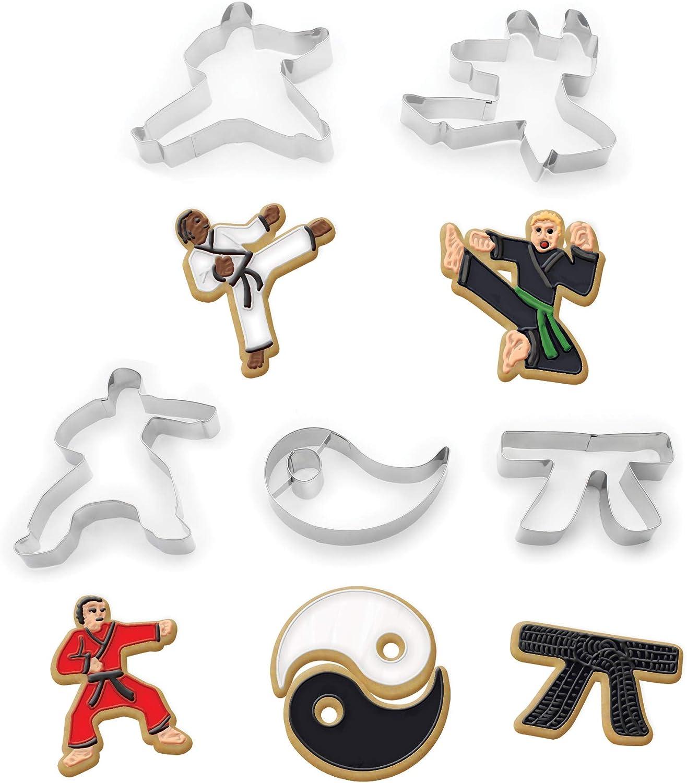 Fox Run Brands 36034 Karate Cookie cutters, 7 x 7 x 1.25 inches, Metallic