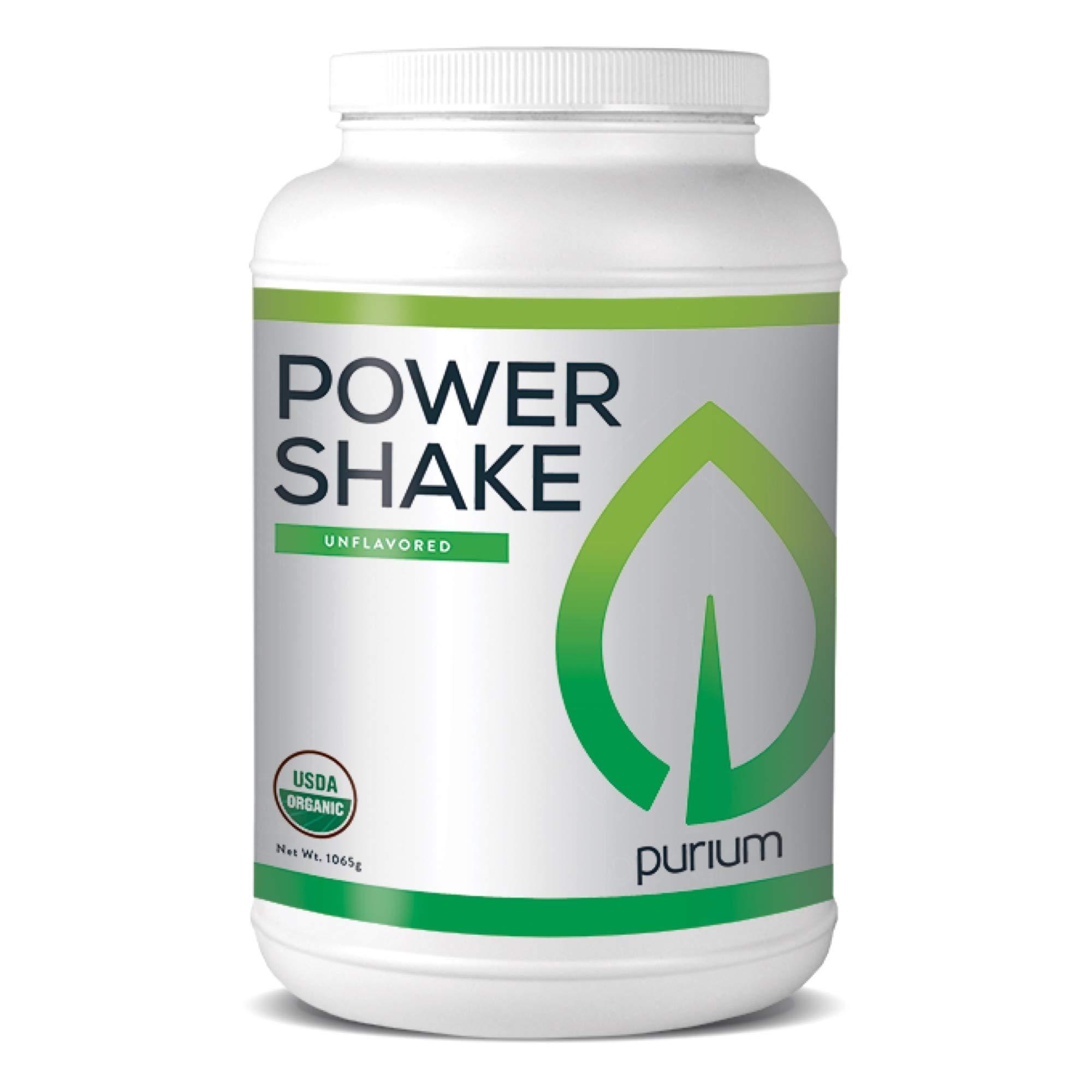 Purium Power Shake - Unflavored - 1065 Grams - Vegan Meal Replacement Powder, Protein, Vitamins & Minerals - Certified USDA Organic, Gluten Free, Kosher - 30 Servings