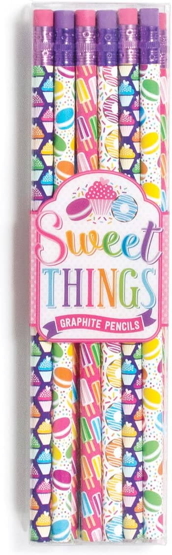 Ooly Sketching and Writing No. 2 Graphite Pencil Set - Sweet Things - 12 Pencils with Erasers