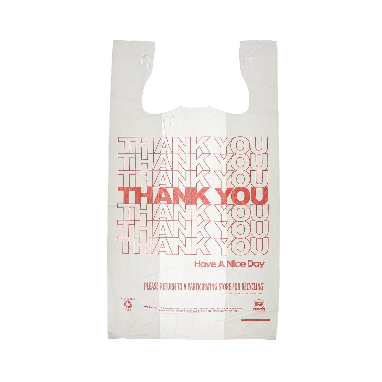 1//6 11.5 x 6.5 x 21 Case of 1000 12 Mic Royal Thank You Plastic Bag
