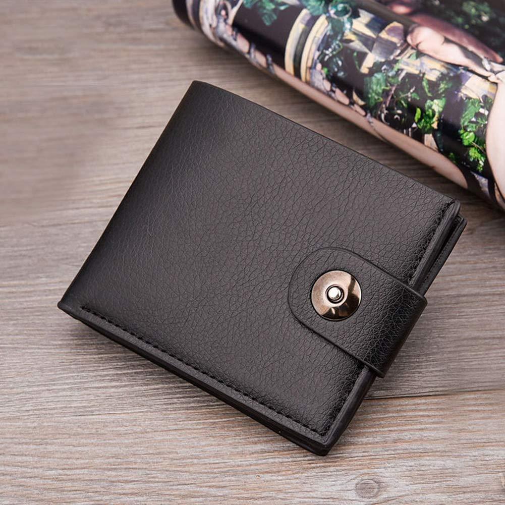 ywbtuechars Fashion Men Short Faux Leather Wallet Pocket Card Clutch ID Credit Bifold Purse Faux Leather Wallets for Men