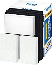 VEVA Complete Premium True HEPA Replacement Filter 3 Pack Including 4 Precut Activated Carbon Pre-Filters for HPA300 compatible with HW Air Purifier 300 and Filter R by Advanced Filters