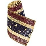 """Americana Burlap Ribbon 4"""" x 10'"""