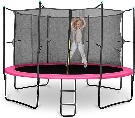 Klarfit Rocketgirl 366 Cama elástica trampolin con Red de ...