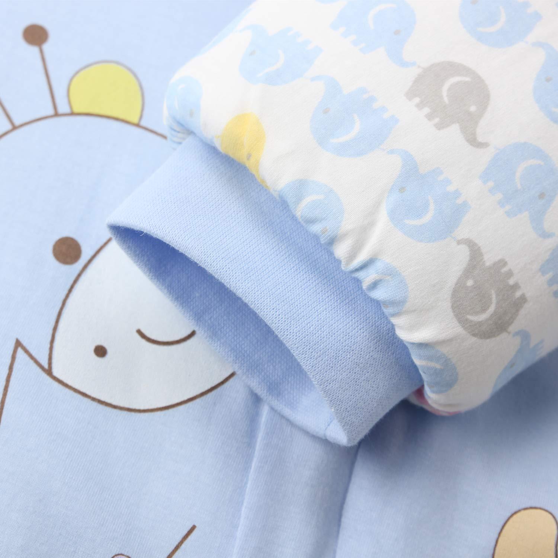 Saco de dormir para beb/é con piernas forrado c/álido de invierno para ni/ñas unisex manga larga mono azul Balu//3.5 Tog Verdickt Talla:M//Koerpergroesse 75-85cm saco de dormir de invierno con pies