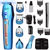 Ceenwes 5 In 1 Mens Grooming Kit Professional Rechargeable Beard Trimmer Hair Clippers Multi-Purpose Mustache Trimmer Mens El