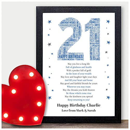 Personalised Birthday Poem Gifts For Him Boys Son Dad Grandad Brother Best Friends 13th 16th 18th 21st 30th 40th 50th 60th 70th Her Girls