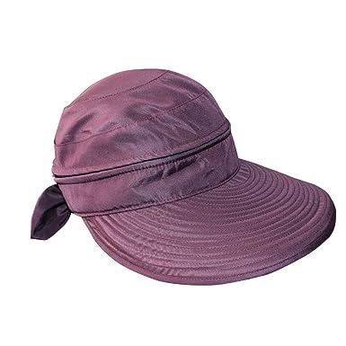 8c7fcf6467996 Women s Anti-UV Wide Brim Lightweight Golf Tennis 2in1 Visor Sun Hat  (Burgundy)