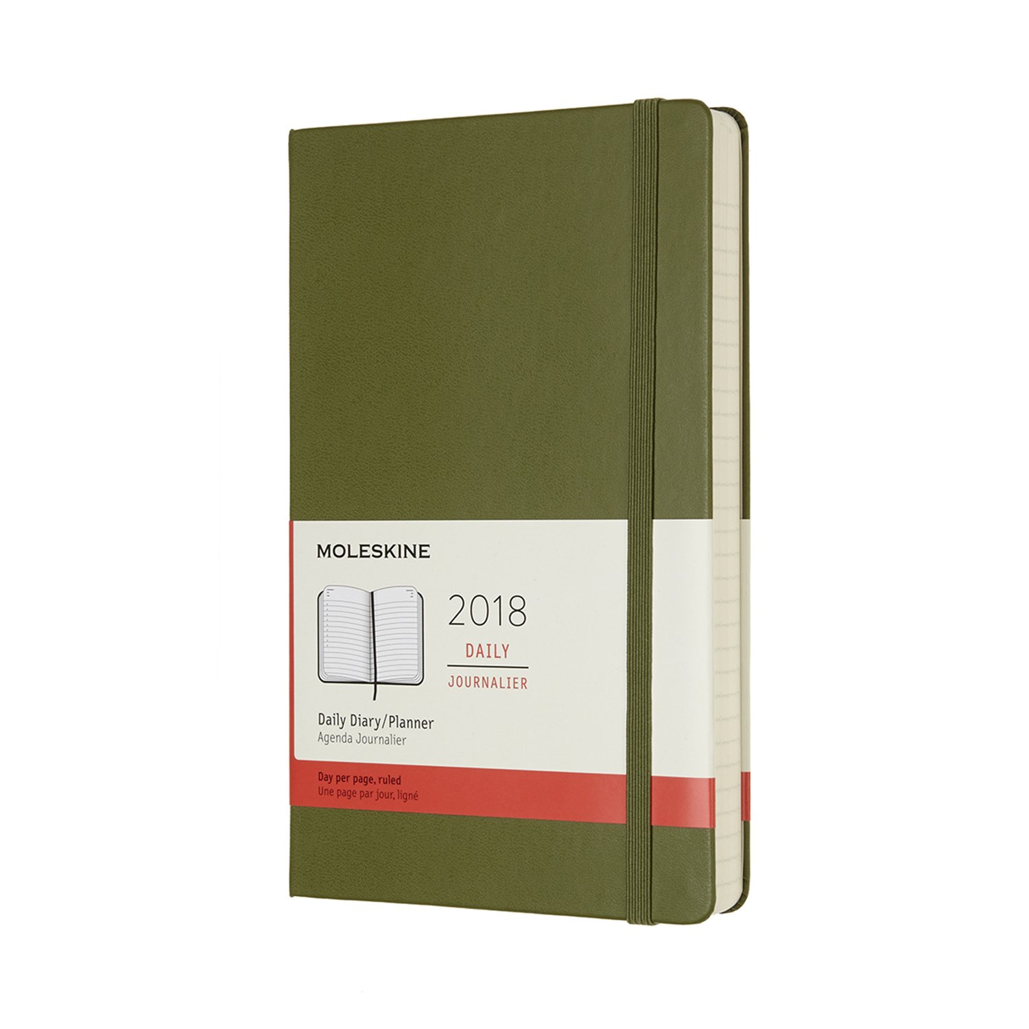 54b8f11a68aa95 2018 Moleskine Elm Green Large Daily Diary 12 Months Hard  Moleskine   Amazon.co.uk  Office Products