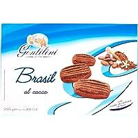 Gentilini Brasil - Biscotti al Cacao con Miele di Nettare di Fiori, 5 x 250 gr