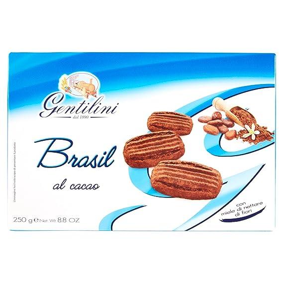 Gentilini Brasil , Biscotti al Cacao con Miele di Nettare di Fiori, 5 x 250  gr Amazon.it Alimentari e cura della casa
