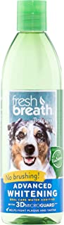 product image for Fresh Breath by TropiClean Advanced Whitening Oral Care Water Additive for Dogs, 16oz, Made in USA