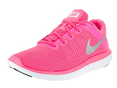 new styles 8e856 062f4 Amazon.com: Nike Flex 2016 RN GS Run Pink Silver Girls ...