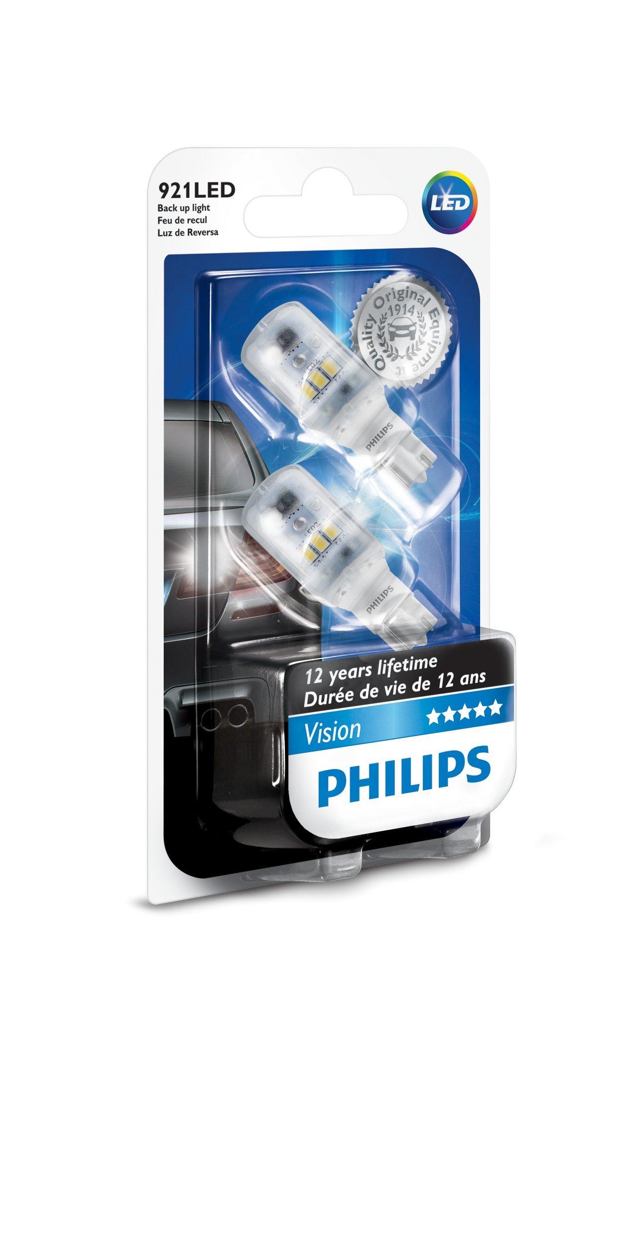 Philips 12789LPB2 Bright White Vision LED Back-up Light (921/T16), 2 Pack