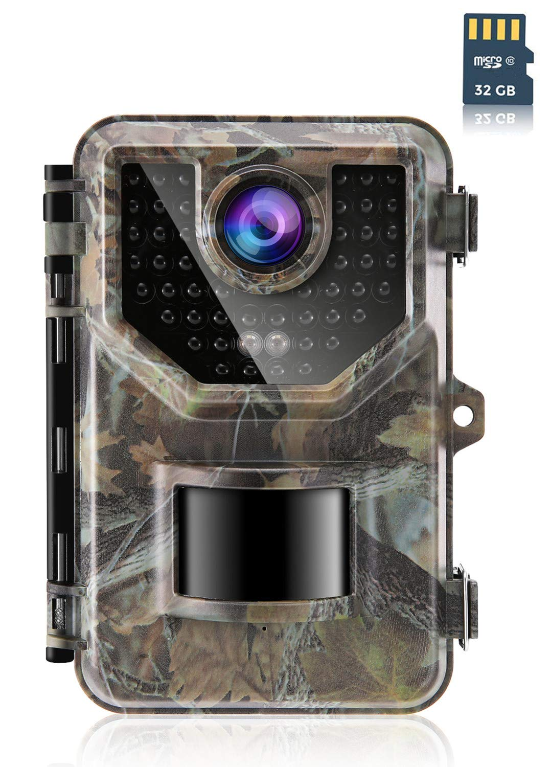 Sesern Trail Camera 16MP 1080P, IP66 Waterproof Game Cam with 940nm No Glow IR Night Vision to 65ft, Micro SD Card in Box, 0.2s Trigger Time Motion Activated, 120 Degree Detection Range, Jungle Green by SESERN