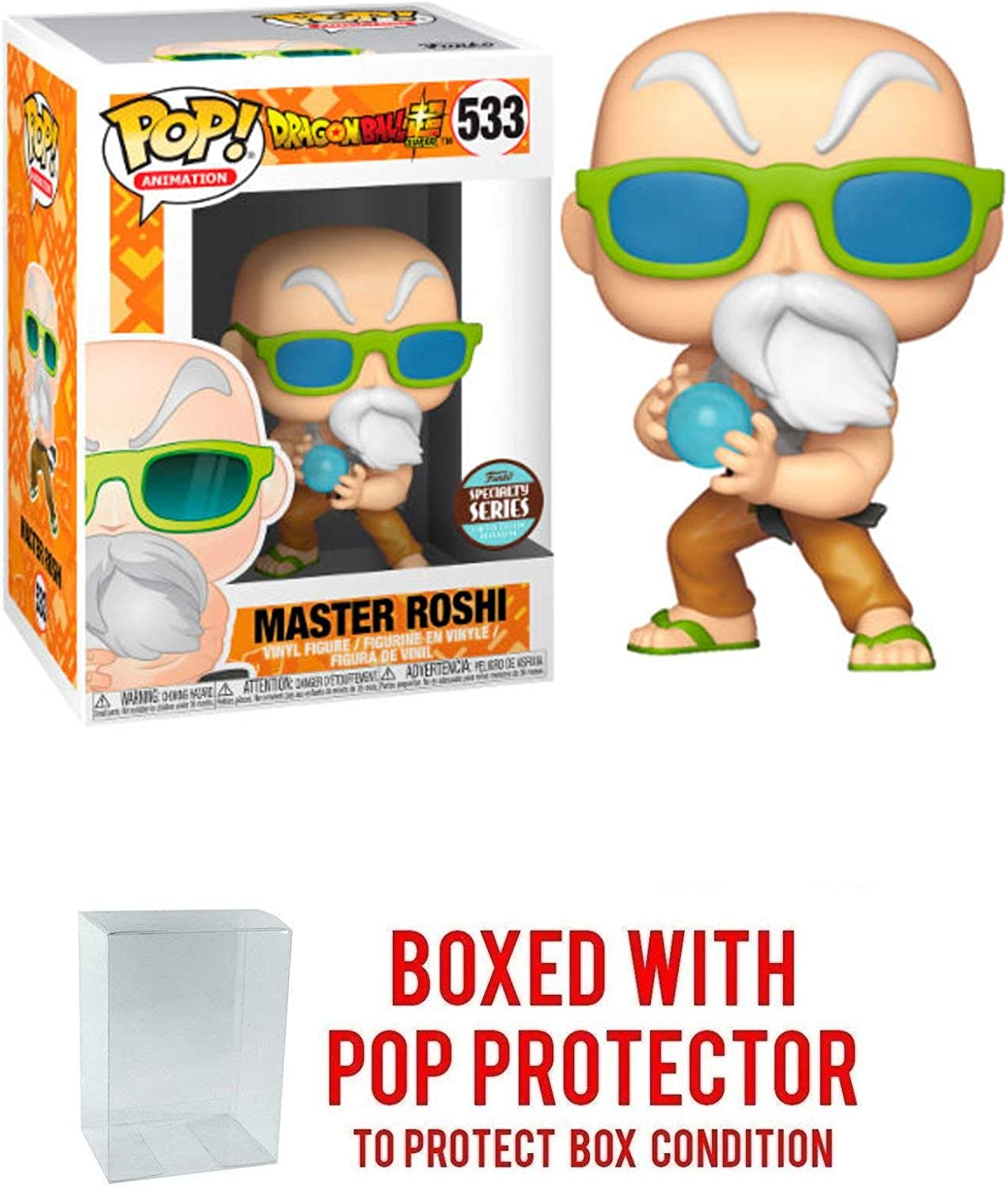 Max Power Master Roshi Specialty Series Exclusive Pop Dragon Ball Super ...
