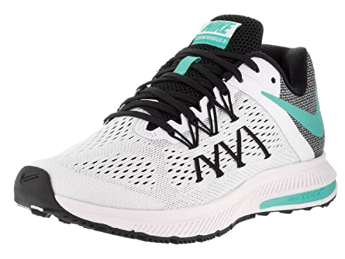 save off 1b9ad 8f5fe Nike Women s WMNS Zoom Winflo 3 Running Shoes, (White Hyper Turquoise-Black
