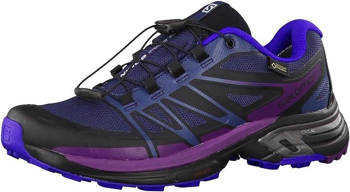 Salomon L39060900, Zapatillas de Trail Running para Mujer, Azul ...