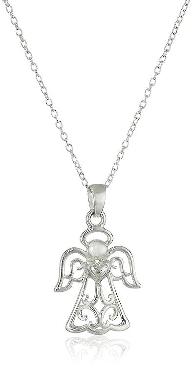 Amazon hallmark jewelry faith inspiration sterling silver hallmark jewelry quotfaith inspirationquot sterling silver angel aloadofball Gallery