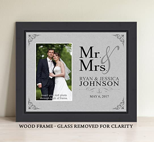 personalized mr and mrs picture frame bridal shower gift wedding gift anniversary gift - Mr And Mrs Photo Frame