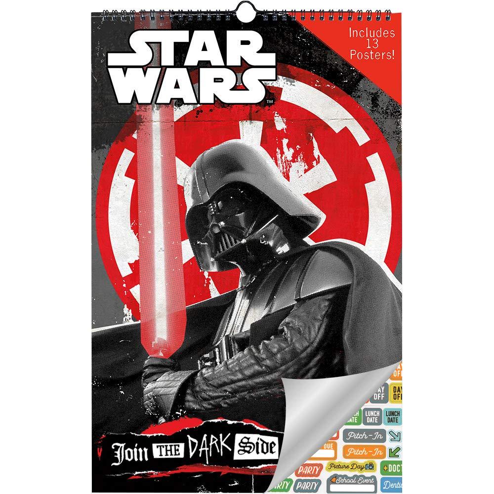 Star Wars Calendar 2019 Set - Deluxe 2019 Star Wars Oversized Calendar with Over 100 Calendar Stickers (Star Wars Gifts, Office Supplies)