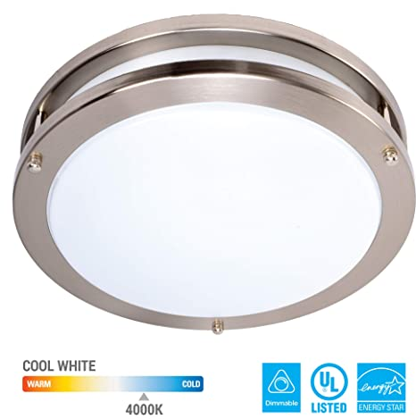 Kor 12 Inch Led Ceiling Light Fixture 15w 1050lm 4000k Cool White Dimmable Light Energy Efficient And Easy Installation Ideal For Living Room