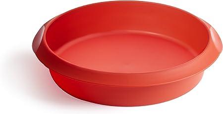 Oferta amazon: Lékué Classic - Molde redondo para tartas, 24 cm, color rojo